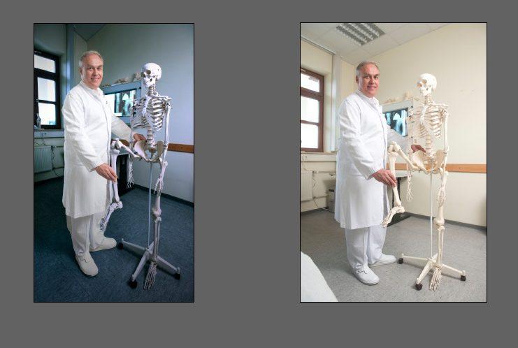 Arzt im Behandlungsraum
